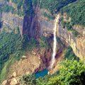 Nohkalikai Waterfalls in Cherrapunji