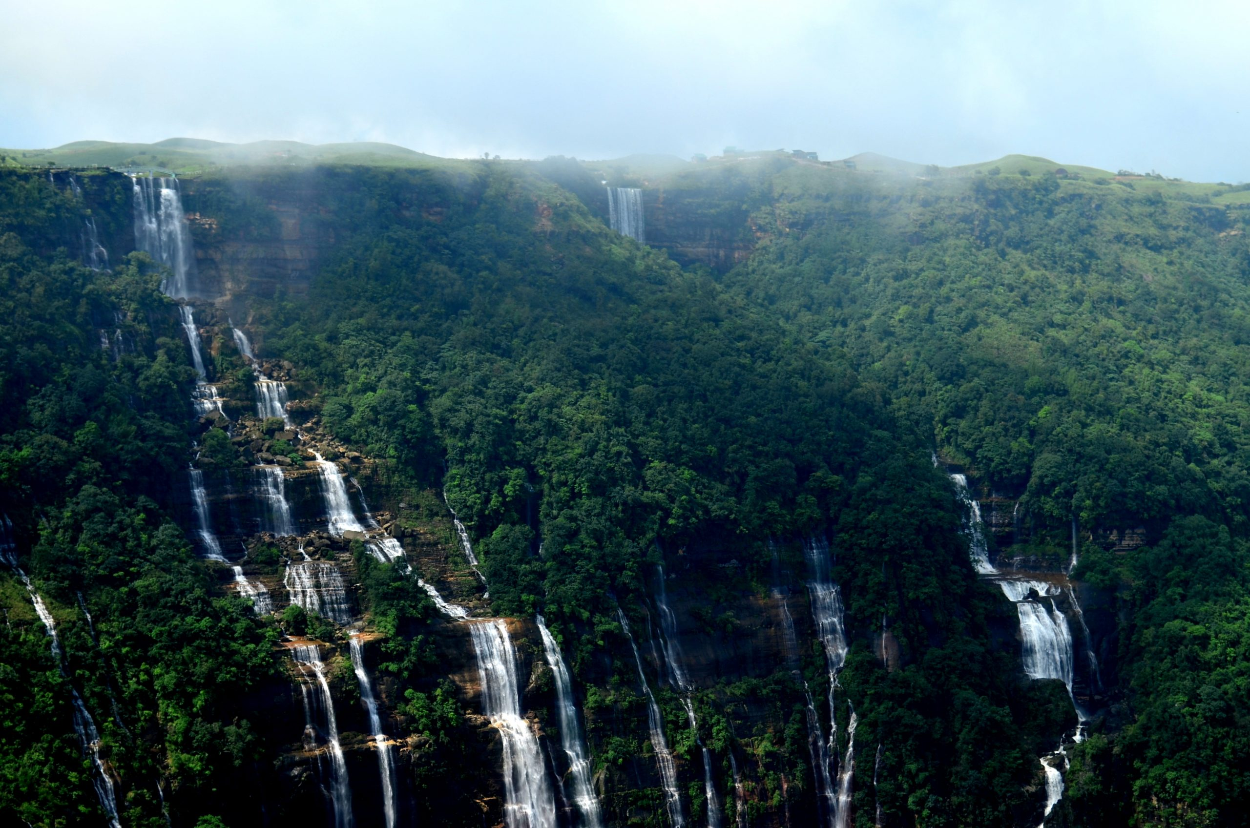 Nohsngithiang Falls - Place To Visit In Meghalaya Which Will Blow Your Minds