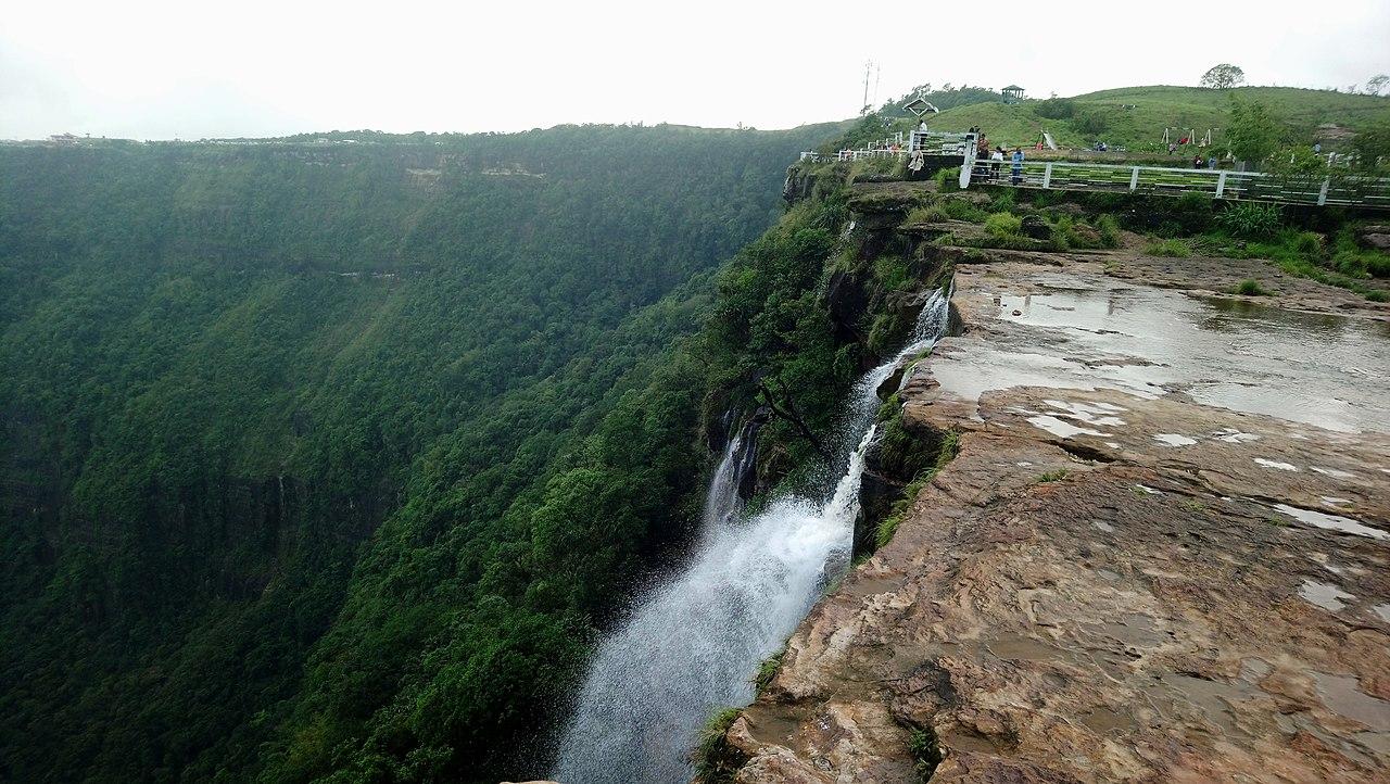 Nohsngithiang WaterFalls in Cherrapunji