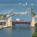 Outer Drive Bridge - Famous Bridge (Movable & Non-Movable) On The Chicago River, Illinois