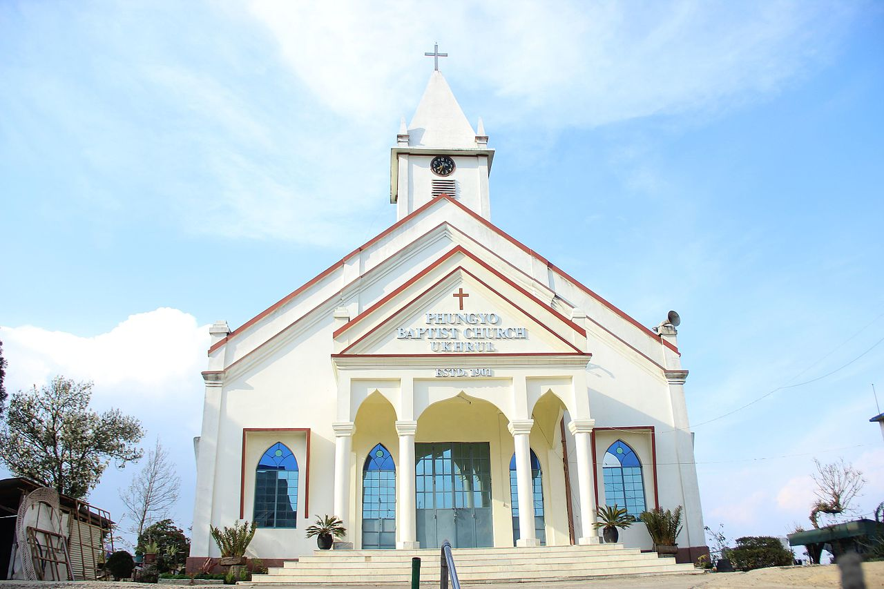 Incredible Place to Visit in Manipur-Phungyo Baptist Church