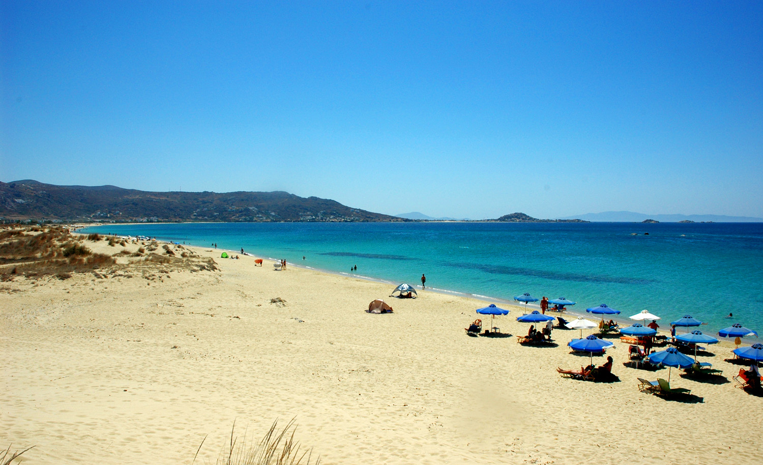 Attraction Tourist Place in Naxos Island-Plaka Beach