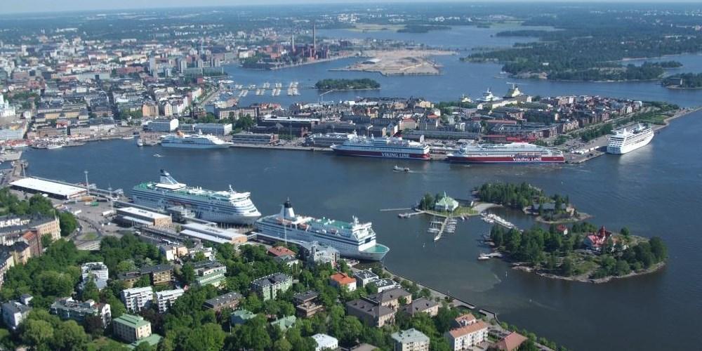 Port of Helsinki Birds Eye View