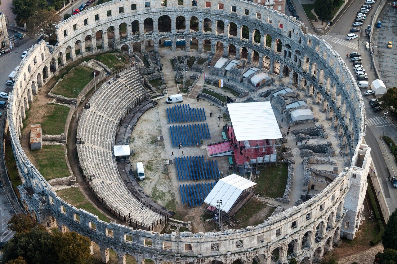 Pula: The Croatian City of Ancient Ruins, Palaces, and Roman Buildings