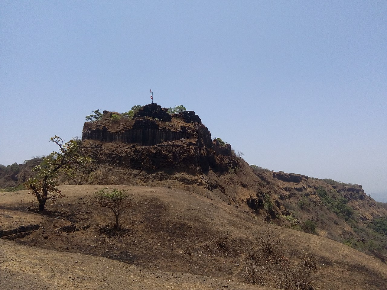 Rangana Fort in the Sahyadri hills of Maharashtra