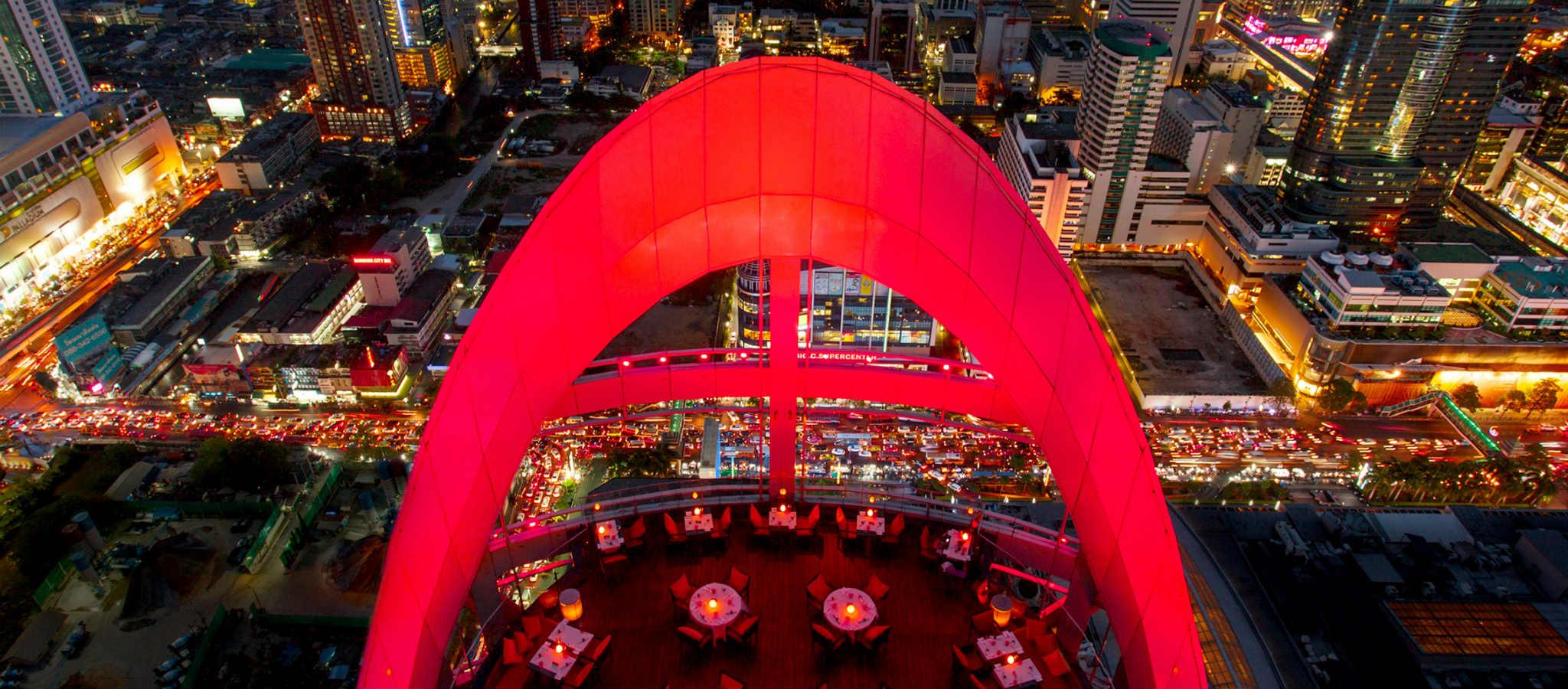 Incredible Restaurant In Bangkok-Red Sky Bar