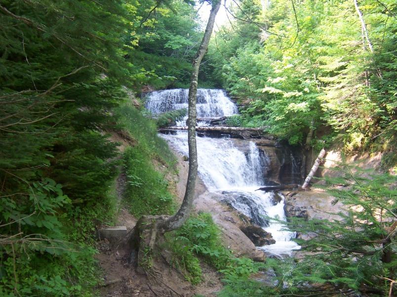 Best Waterfalls in Michigan-Sable Falls