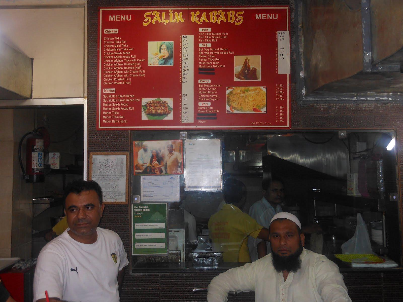 Salim's Kabab - Defence Colony