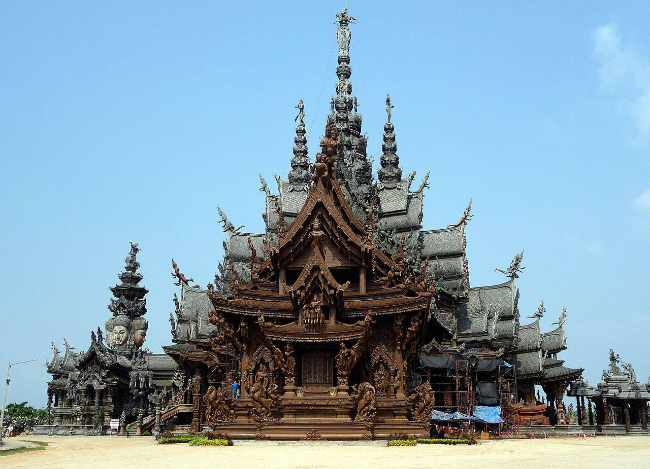Sanctuary of Truth, Pattaya Temple in Thailand