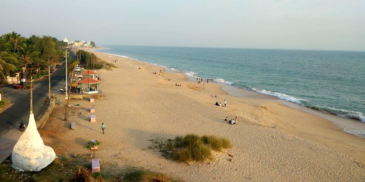 Best Serene Beach In Kanyakumari-Sanguthurai Beach