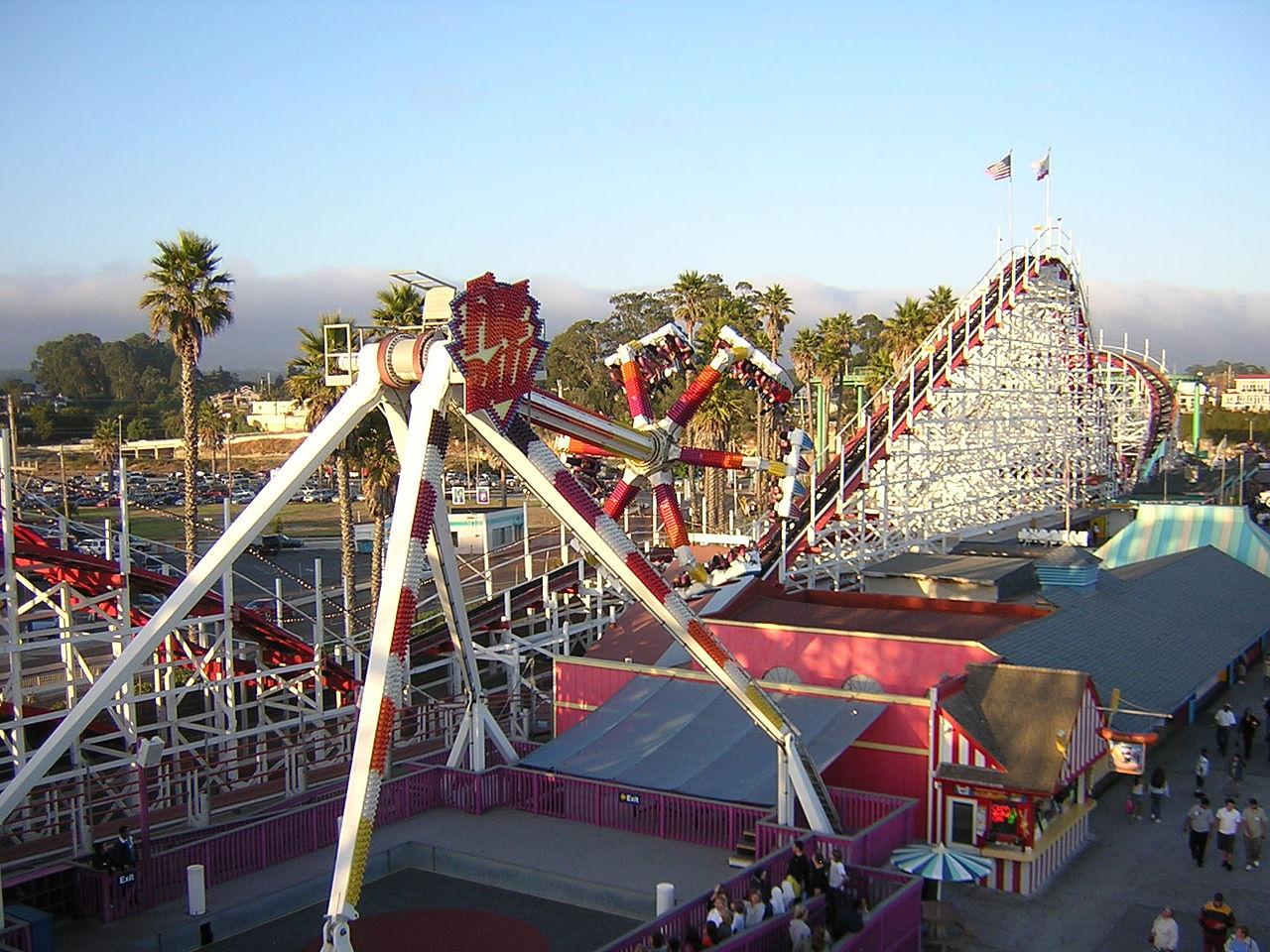Best Theme Park In California-Santa Cruz Beach Boardwalk