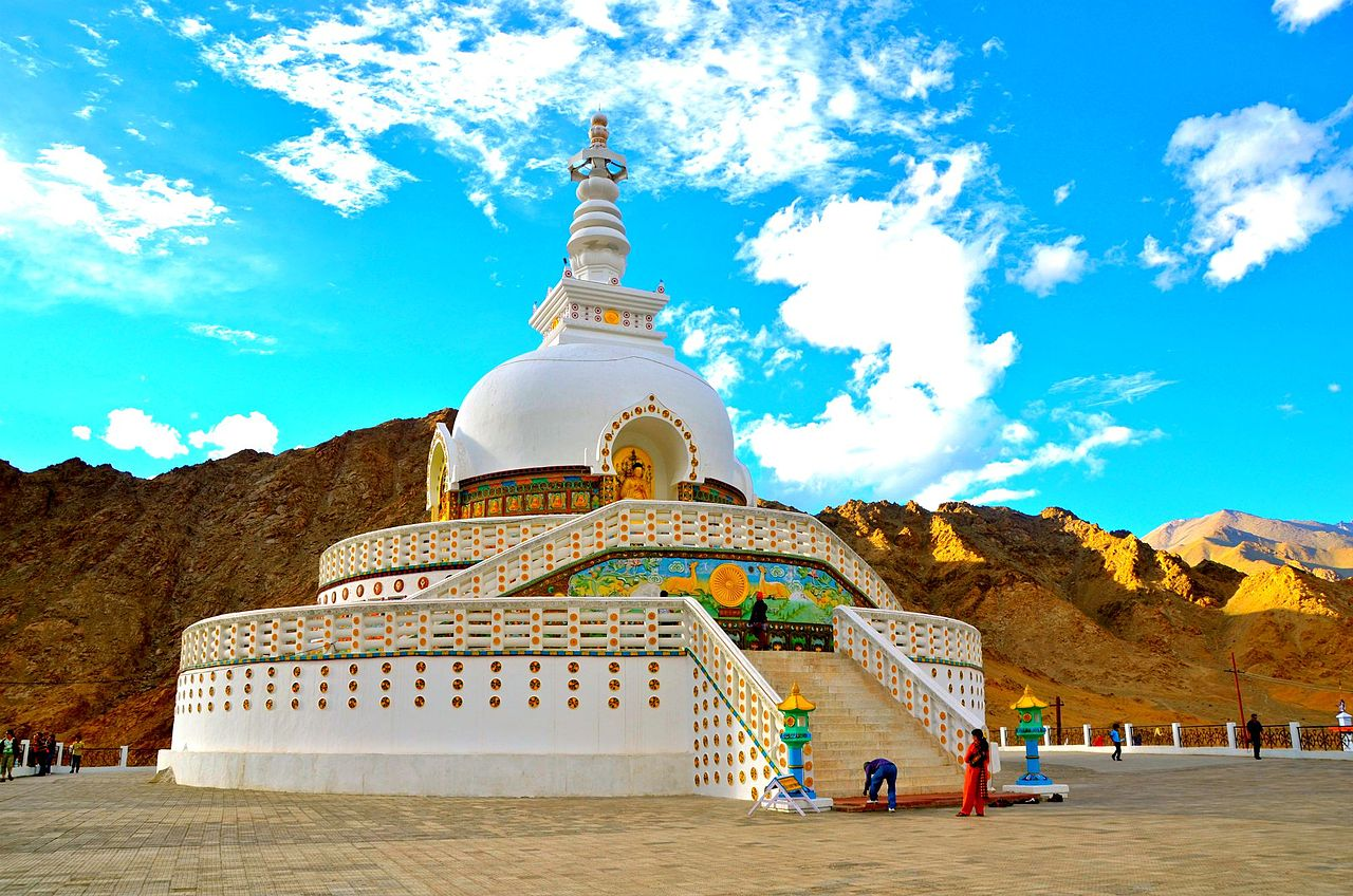 Amazing Place to Visit In Ladakh-Shanti Stupa
