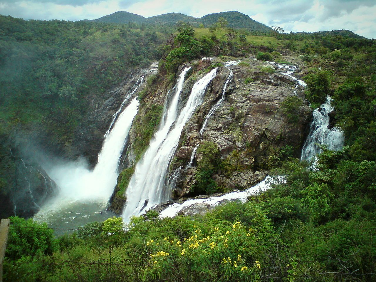 Place To See Near The Cauvery Wildlife Sanctuary In Muthathi-Shivanasamudra Waterfalls