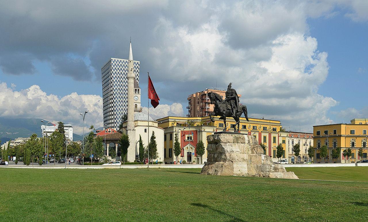 Beautiful Place To See At City Of Tirana-Skandberg Square