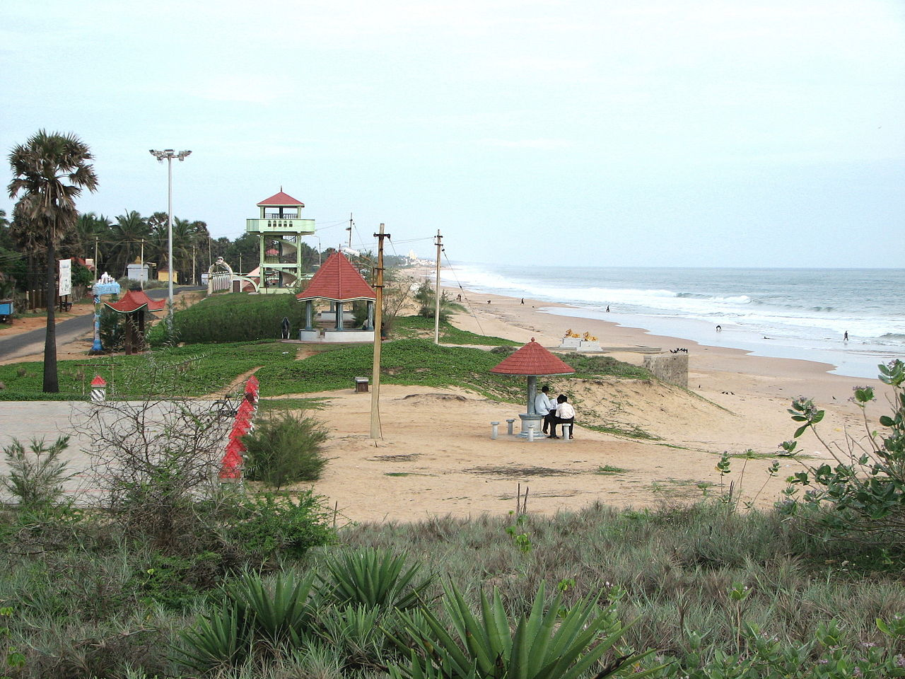 Kanyakumari Beach in Kanyakumari, Tamil Nadu