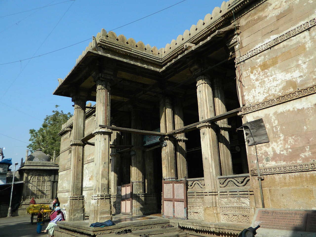 Structure & Architecture of The Ahmad Shah Tomb, Ahmedabad