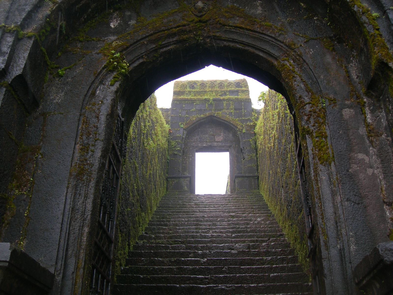 Structures Inside Raigad Fort