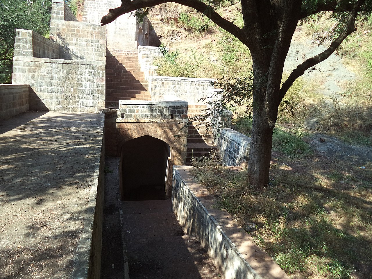 Structures Inside the Manikgad Fort