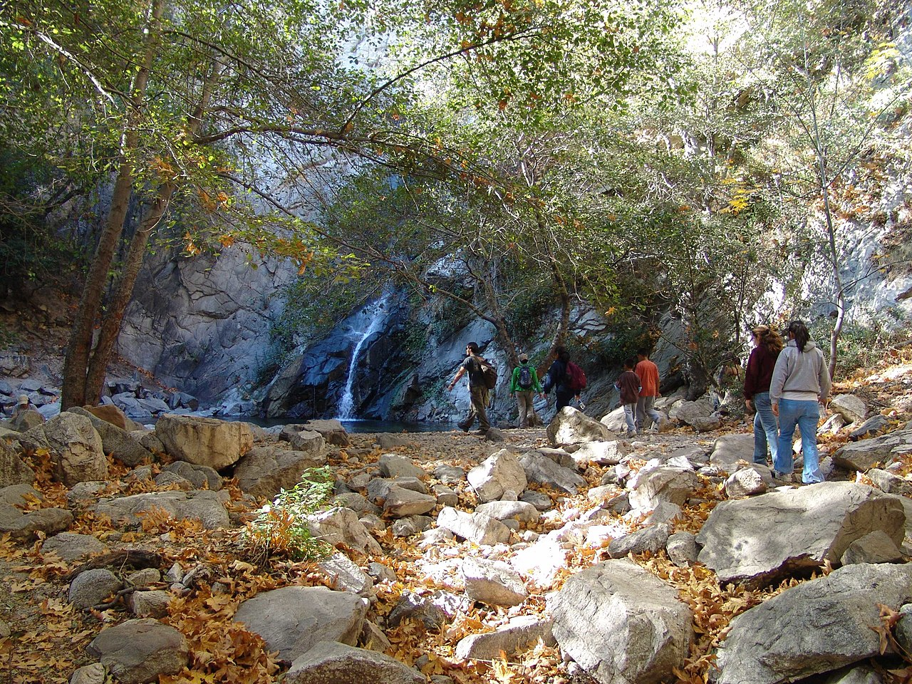 Sight-seeing Tourist Place In Southern California-Sturtevant Falls