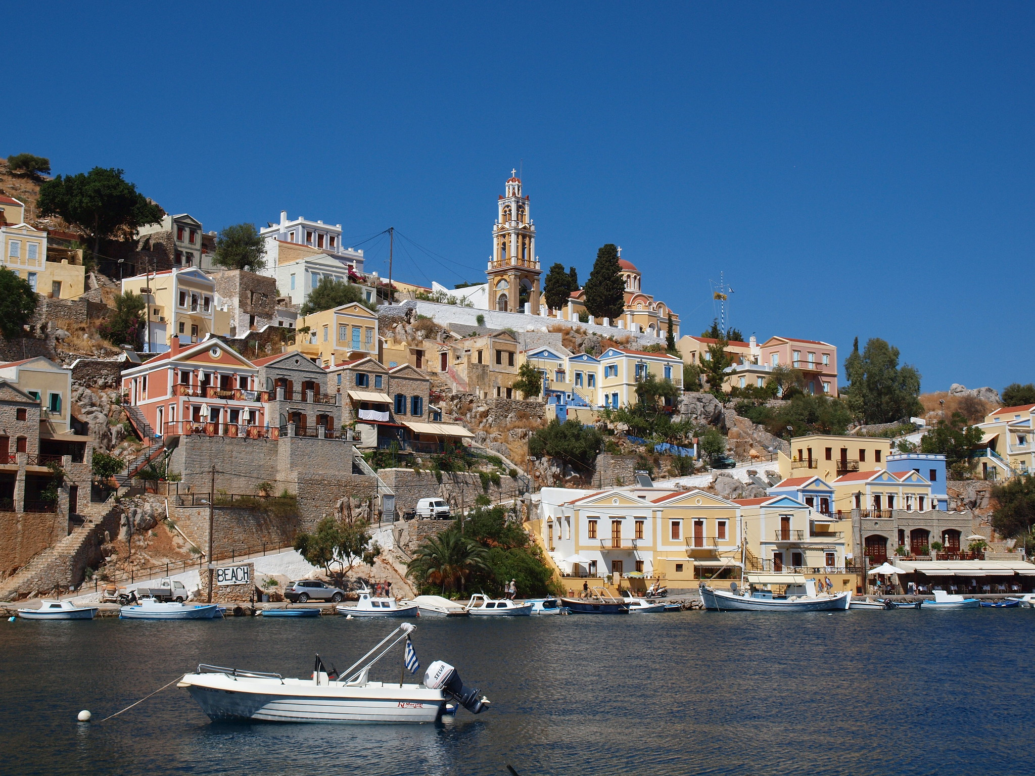 Visit Symi Island in Greece: Witness Several Colorful Houses Spread Around The Main Street (2020)