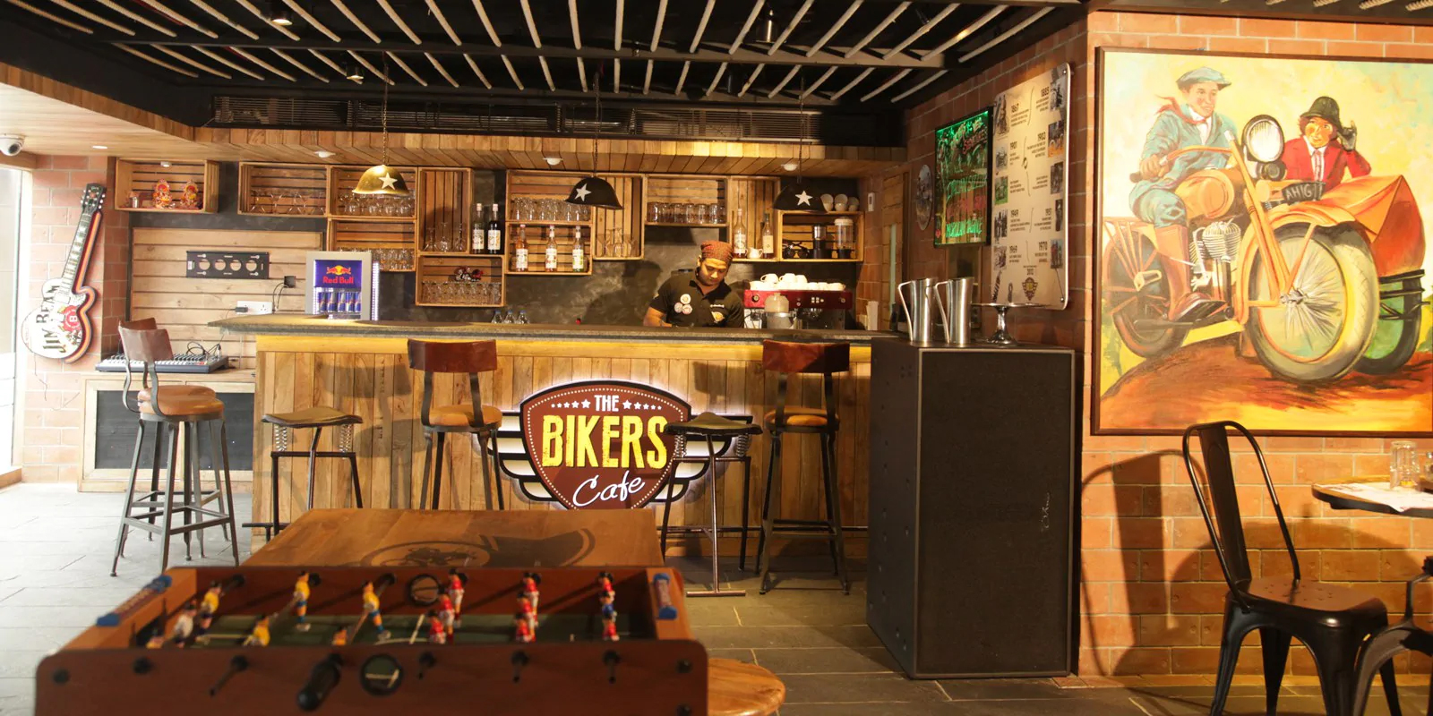 The Biker's Café - Restaurants In Kolkata That Every Tourists Must Visit
