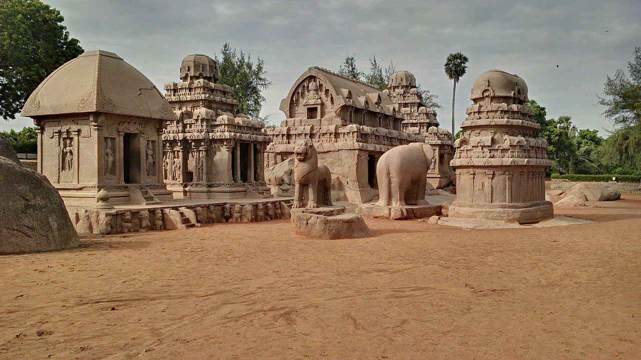 Beautiful Place to Visit In Mahabalipuram-The Five Rathas