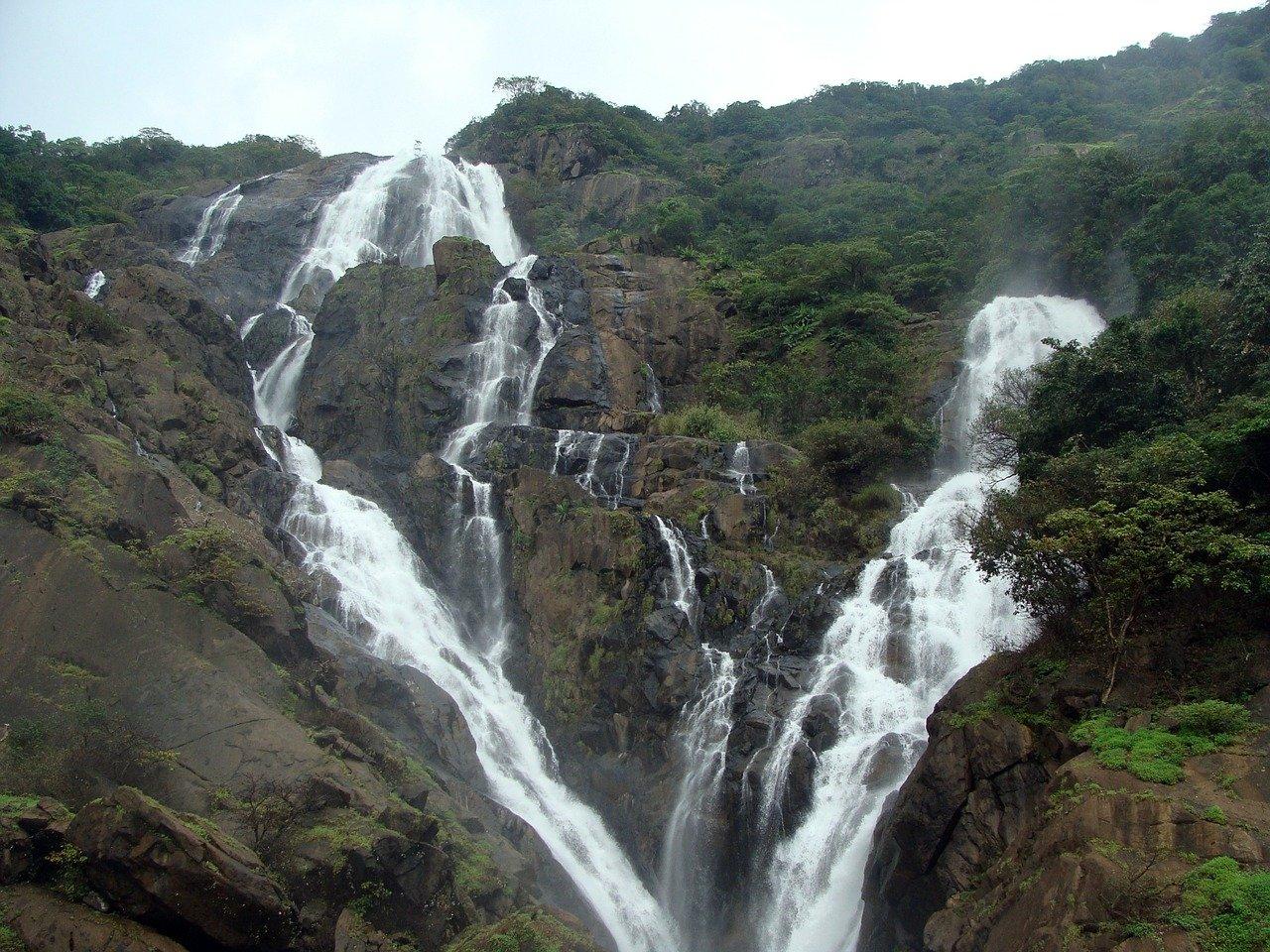 The Natural Beauty Of The Dudhsagar Falls, Goa