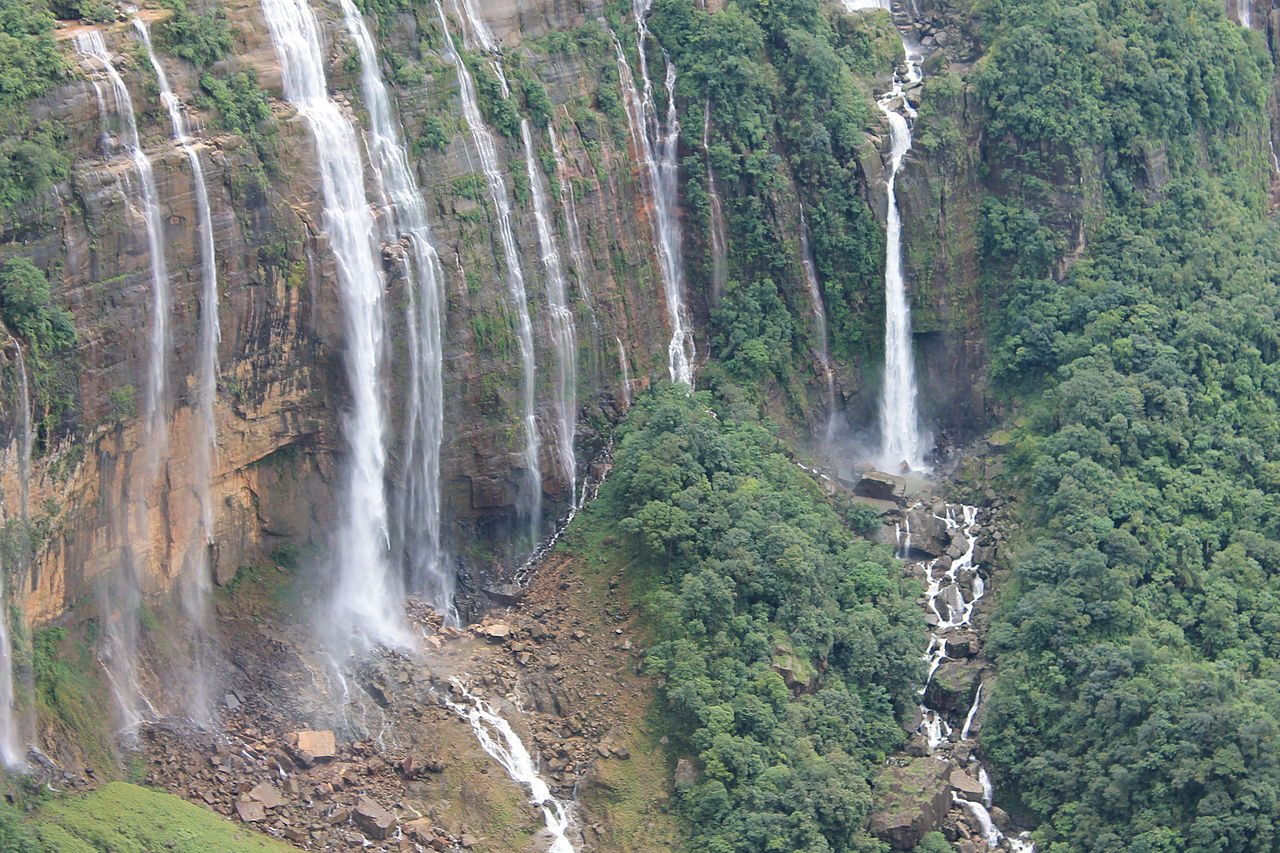 Famous Attraction Close To Eco Park in Cherrapunji-The Seven Sisters Waterfall