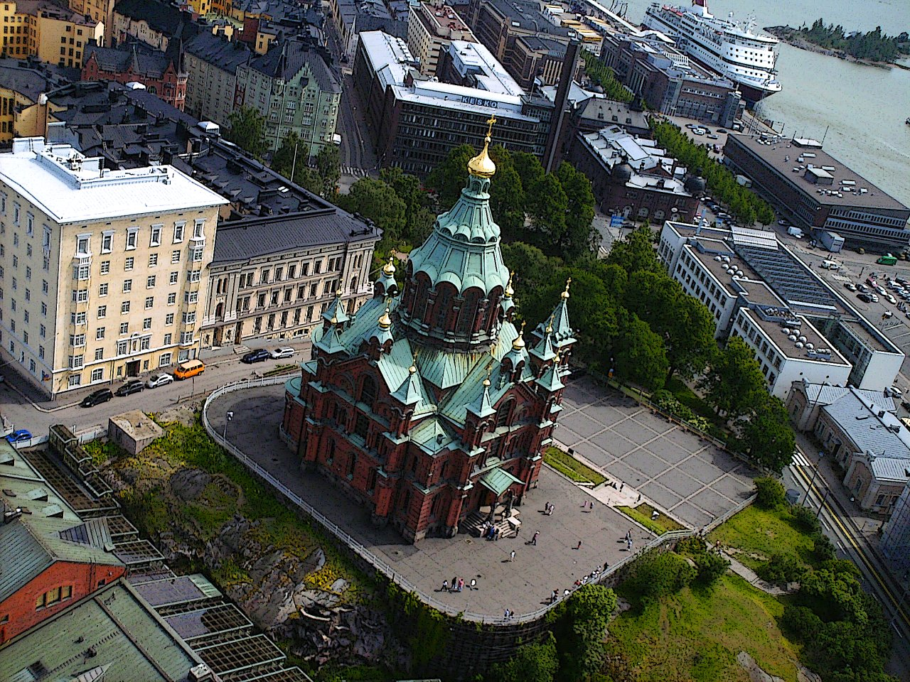 Uspenski Cathedral Birds Eye View, Helsinki Travel