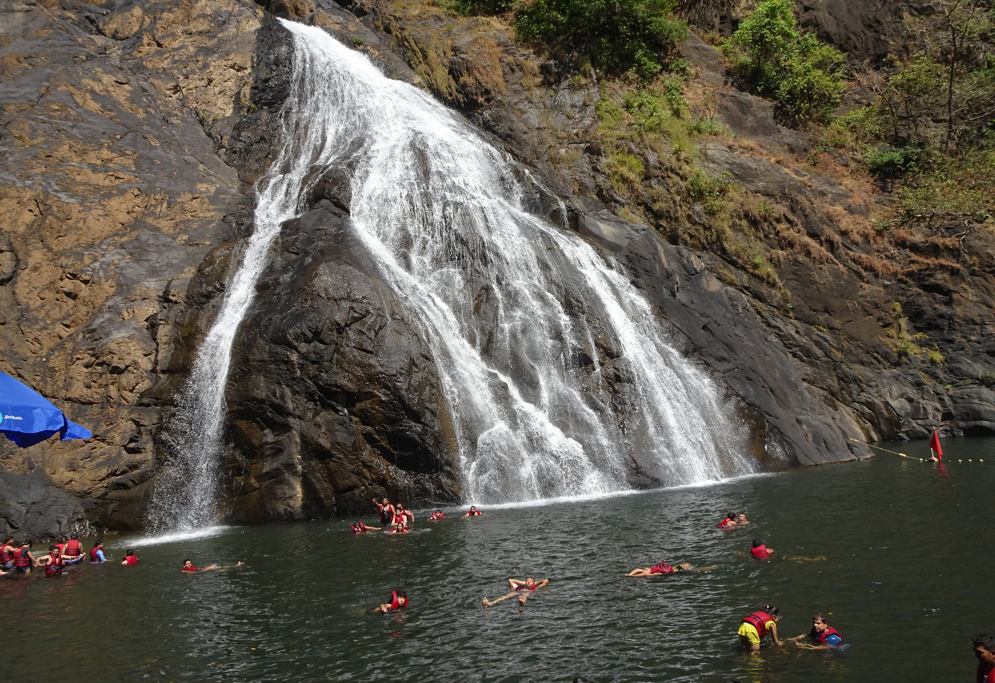 Best Things to do In Goa During the Monsoon - Visit the Magnificent Dudhsagar Waterfalls
