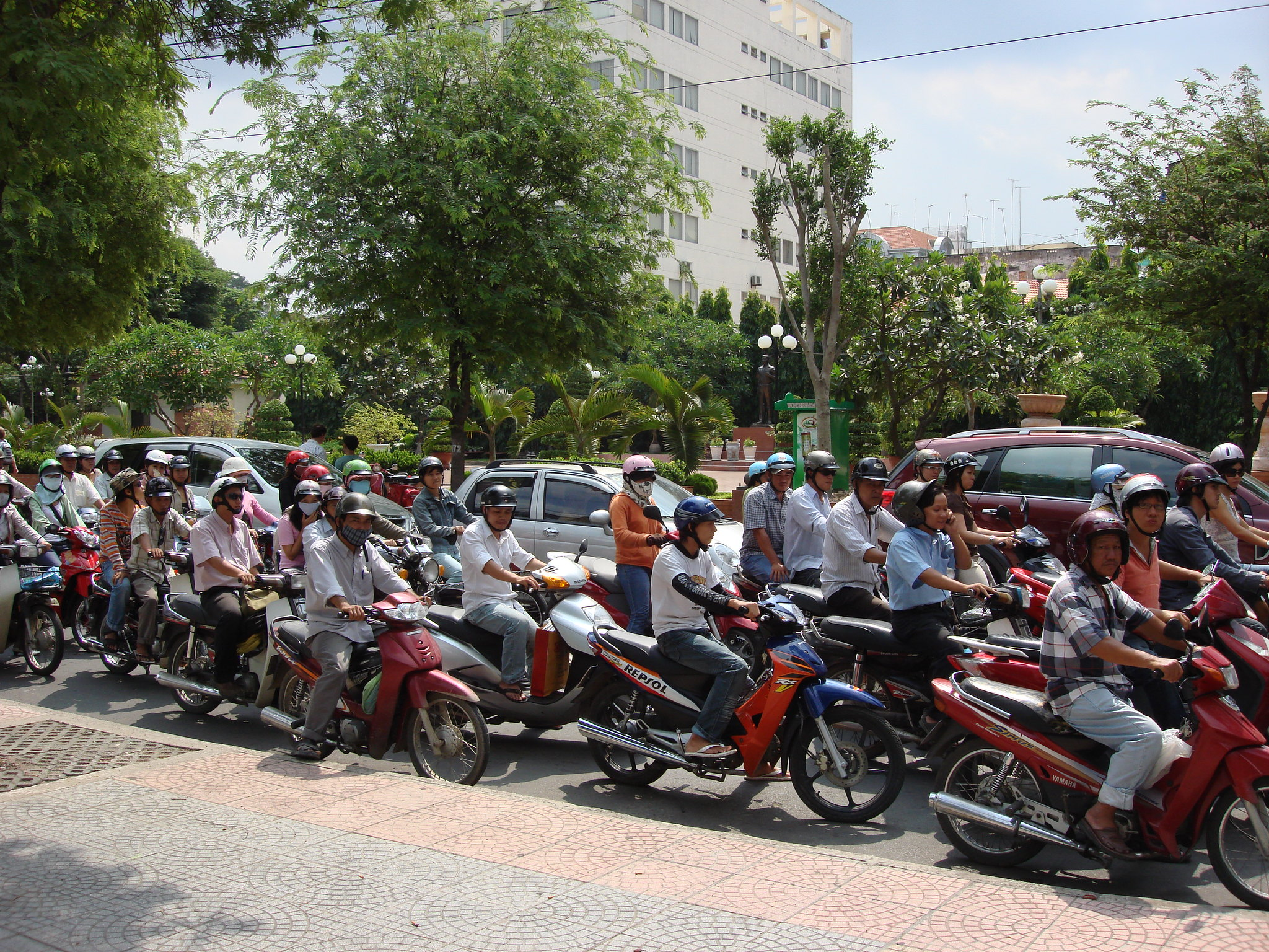 Walkthrough Crazily Chaotic Six Lane Traffic In Vietnam