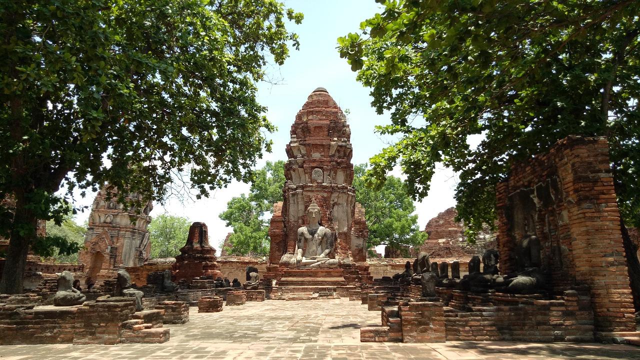 Thailand Temple-Wat Mahathat, Ayutthaya
