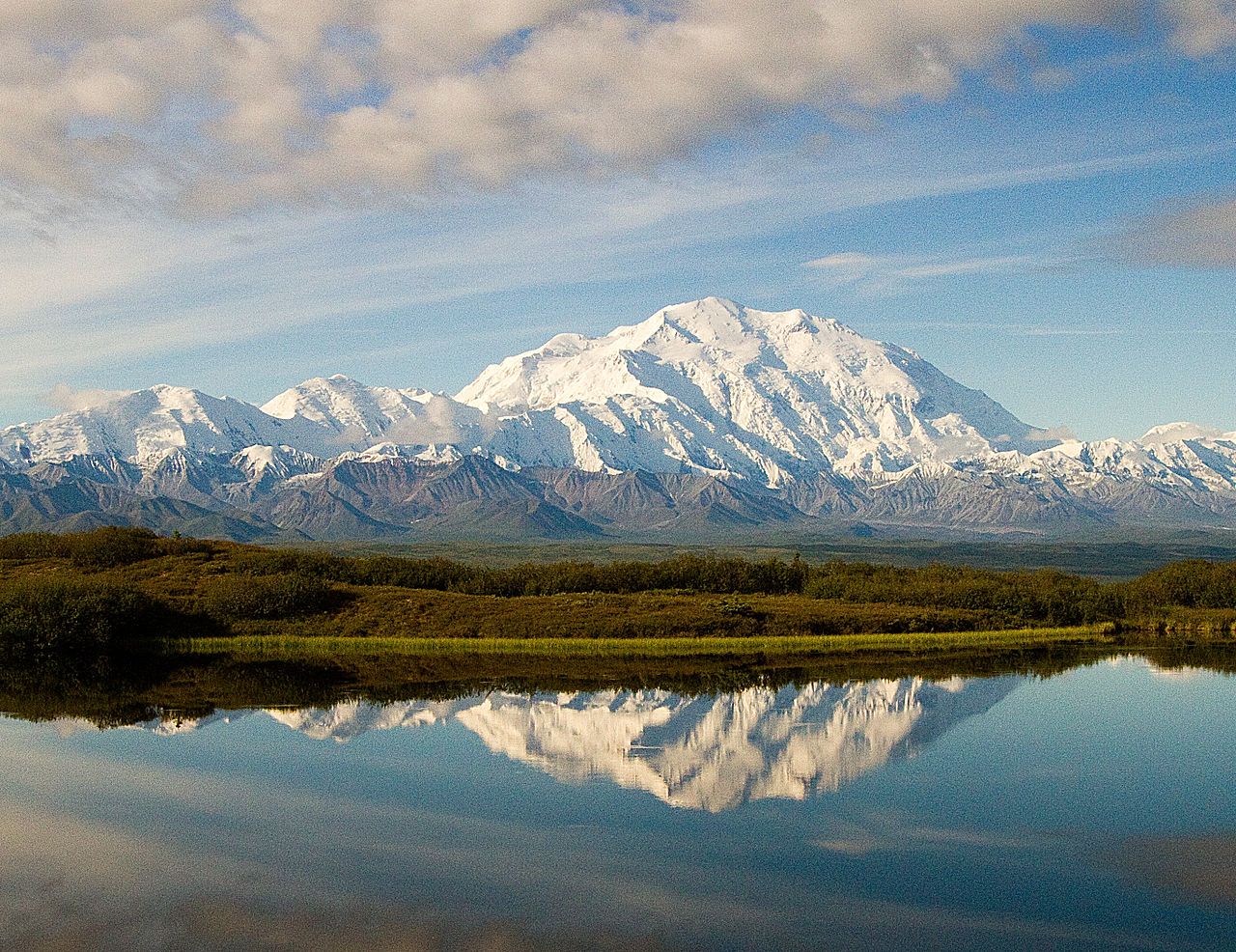 Amazing Lake Of Alaska City-Wonder Lake