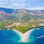 Zlatni Rat Beach or Golden Horn Beach in Brac (Croatia)